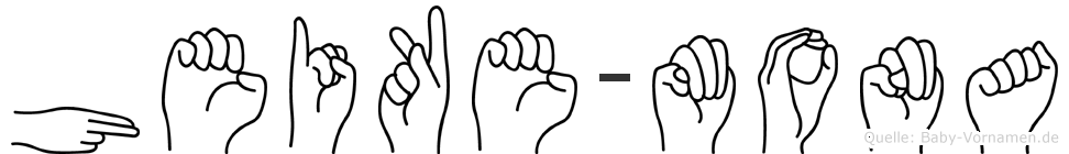 Heike-Mona im Fingeralphabet der Deutschen Gebärdensprache