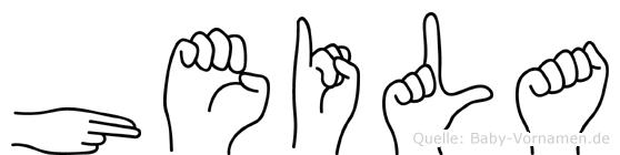 Heila im Fingeralphabet der Deutschen Gebärdensprache
