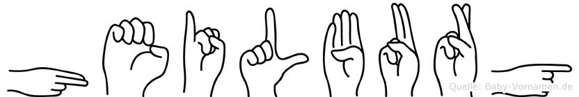 Heilburg im Fingeralphabet der Deutschen Gebärdensprache