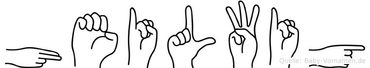 Heilwig im Fingeralphabet der Deutschen Gebärdensprache