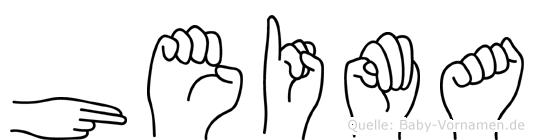 Heima im Fingeralphabet der Deutschen Gebärdensprache