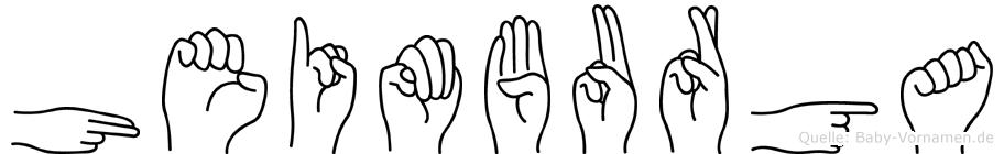 Heimburga im Fingeralphabet der Deutschen Gebärdensprache