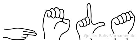 Hela in Fingersprache für Gehörlose