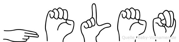 Helen in Fingersprache für Gehörlose