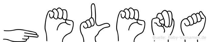 Helena in Fingersprache für Gehörlose