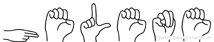 Helene in Fingersprache für Gehörlose