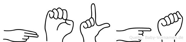 Helga in Fingersprache für Gehörlose