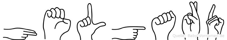 Helgard im Fingeralphabet der Deutschen Gebärdensprache