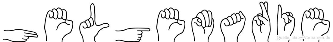 Helgemarie im Fingeralphabet der Deutschen Gebärdensprache