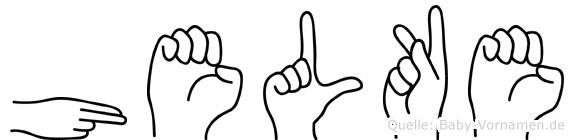 Helke im Fingeralphabet der Deutschen Gebärdensprache