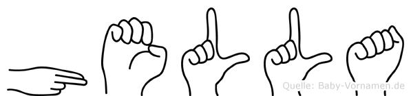 Hella in Fingersprache für Gehörlose
