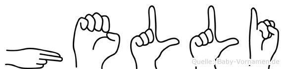Helli im Fingeralphabet der Deutschen Gebärdensprache