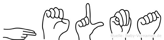 Helma in Fingersprache für Gehörlose