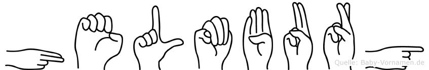 Helmburg im Fingeralphabet der Deutschen Gebärdensprache