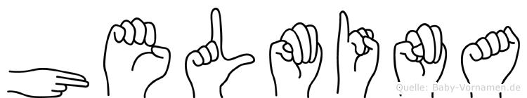 Helmina im Fingeralphabet der Deutschen Gebärdensprache