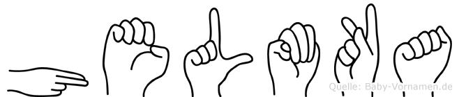 Helmka in Fingersprache für Gehörlose
