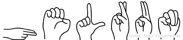Helrun in Fingersprache für Gehörlose