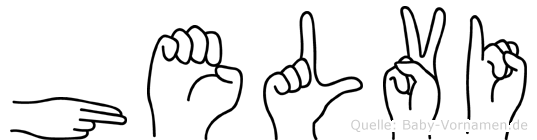 Helvi im Fingeralphabet der Deutschen Gebärdensprache