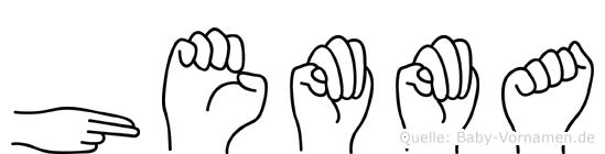 Hemma im Fingeralphabet der Deutschen Gebärdensprache