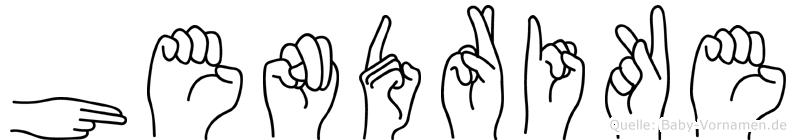 Hendrike im Fingeralphabet der Deutschen Gebärdensprache