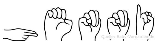 Henni in Fingersprache für Gehörlose