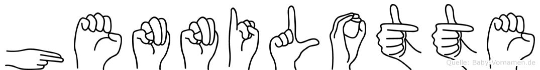 Hennilotte im Fingeralphabet der Deutschen Gebärdensprache