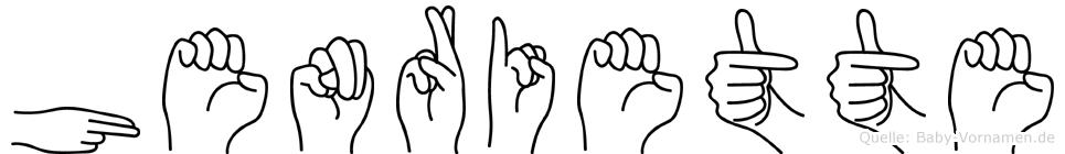 Henriette im Fingeralphabet der Deutschen Gebärdensprache