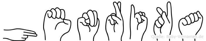 Henrika im Fingeralphabet der Deutschen Gebärdensprache
