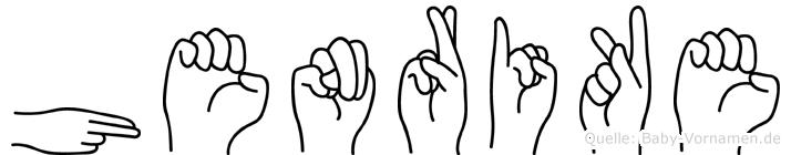 Henrike in Fingersprache für Gehörlose