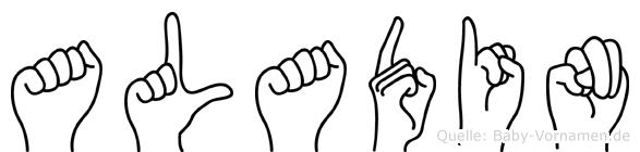 Aladin im Fingeralphabet der Deutschen Gebärdensprache