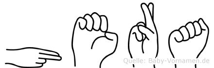 Hera in Fingersprache für Gehörlose