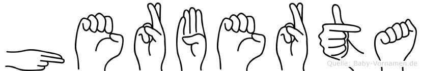 Herberta im Fingeralphabet der Deutschen Gebärdensprache