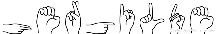 Hergilde im Fingeralphabet der Deutschen Gebärdensprache