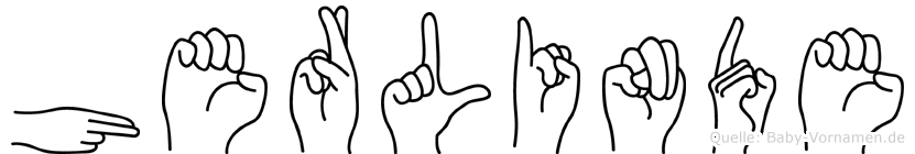Herlinde im Fingeralphabet der Deutschen Gebärdensprache