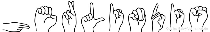 Herlindis im Fingeralphabet der Deutschen Gebärdensprache