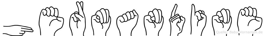 Hermandine im Fingeralphabet der Deutschen Gebärdensprache