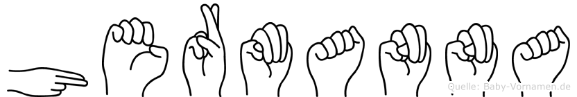 Hermanna im Fingeralphabet der Deutschen Gebärdensprache
