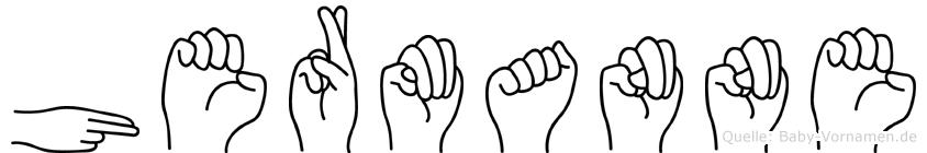 Hermanne im Fingeralphabet der Deutschen Gebärdensprache