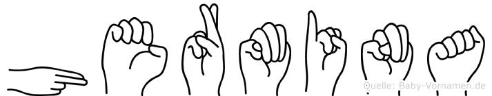 Hermina im Fingeralphabet der Deutschen Gebärdensprache