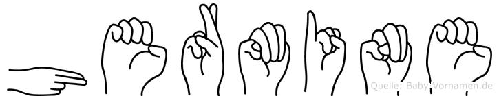 Hermine im Fingeralphabet der Deutschen Gebärdensprache