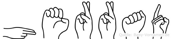 Herrad im Fingeralphabet der Deutschen Gebärdensprache