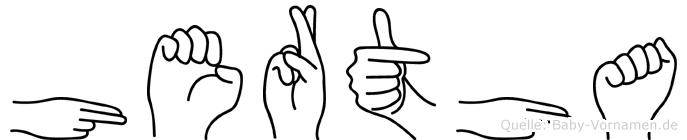 Hertha in Fingersprache für Gehörlose