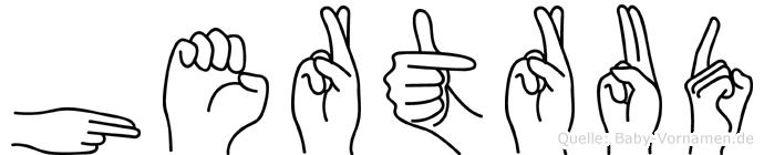 Hertrud im Fingeralphabet der Deutschen Gebärdensprache