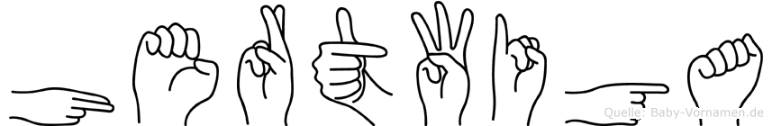 Hertwiga im Fingeralphabet der Deutschen Gebärdensprache