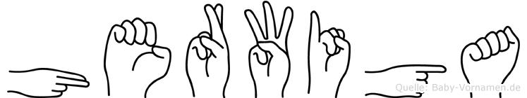 Herwiga in Fingersprache für Gehörlose
