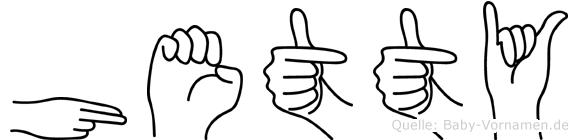 Hetty in Fingersprache für Gehörlose