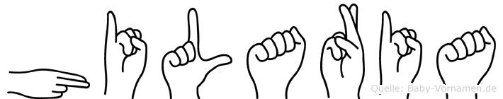 Hilaria im Fingeralphabet der Deutschen Gebärdensprache