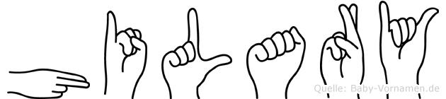 Hilary in Fingersprache für Gehörlose