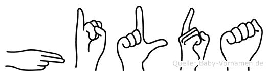 Hilda in Fingersprache für Gehörlose