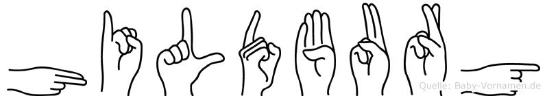 Hildburg in Fingersprache für Gehörlose